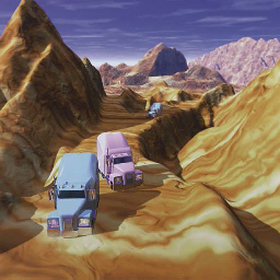 Desert Riders - Mountains from