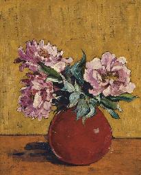 A Vase of Peonies