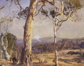Cattle amongst the Gums, Hahnd