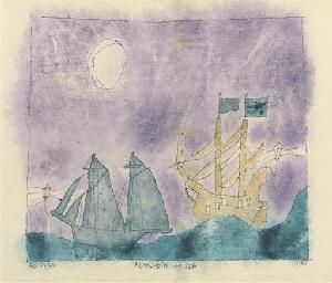 Mondschein auf See