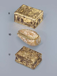 A LOUIS XV GOLD-MOUNTED SHELL