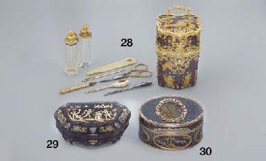 A LOUIS XV GOLD-MOUNTED BURGAU