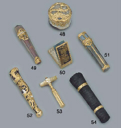 A GEORGE II GOLD-MOUNTED HARDS