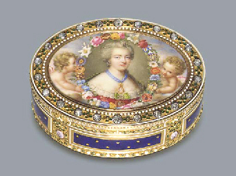 A FINE LOUIS XVI JEWELLED AND