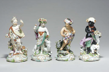 FOUR DERBY FIGURES EMBLEMATIC