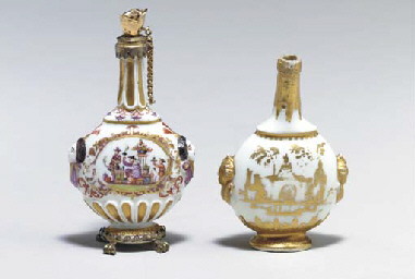 TWO MEISSEN SCENT BOTTLES