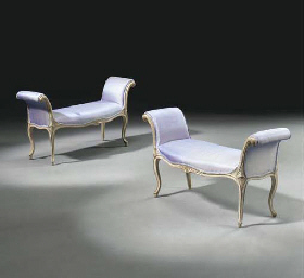 A PAIR OF LATE LOUIS XV GREY A