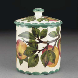 A Wemyss Apple Biscuit Barrel