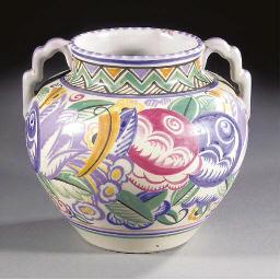 A CSA Twin-Handled EB Vase