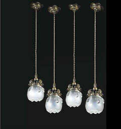 A Set of Four Light Fittings w