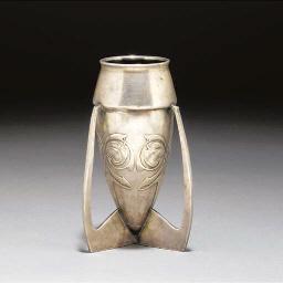 A Tudric Pewter Vase