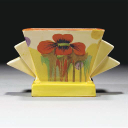 A Delecia Poppy Vase and Flowe