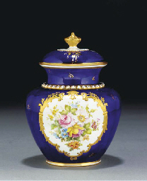 A Royal Crown Derby dark-blue-