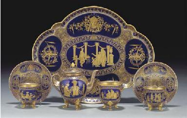 A Royal Worcester dark-blue-gr