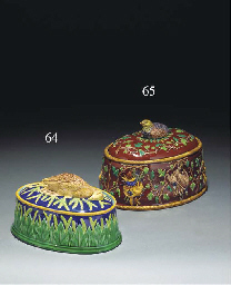 A George Jones dark-blue-ground oval game-pie dish and cover