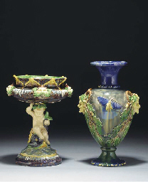 A French Palissy-ware footed b