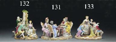A Meissen allegorical group