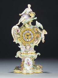 A Meissen clock case