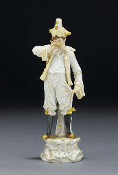 A Meissen figure of a clown