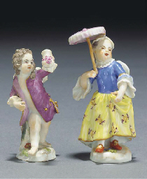 A Meissen figure of Cupid disg