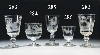 A rummer engraved with the rac