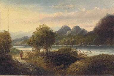 Returning home along a lakesid