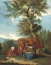Milking the cow; and Another s