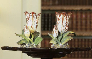 TWO ENGLISH SPILL VASES