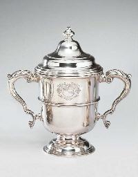 A GEORGE VI SILVER CUP AND COV