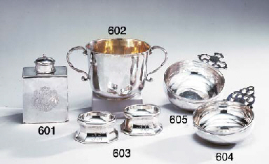 A CHARLES II SILVER TWO-HANDLE