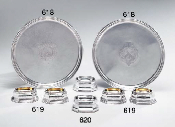 A PAIR OF GEORGE I SILVER TREN