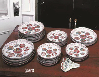 A JAPANESE PORCELAIN PART DINN