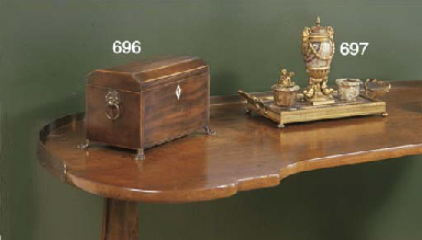 A FRENCH ORMOLU-MOUNTED FLUORS