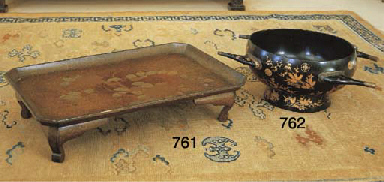 A JAPANESE LACQUER WATER BASIN