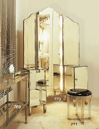 A MIRRORED VANITY TABLE
