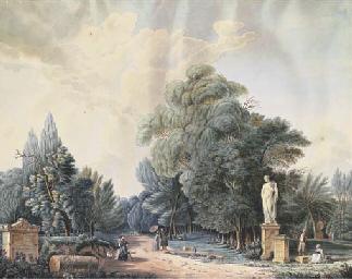 Figures admiring classical sta