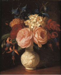 Still Life with roses and othe