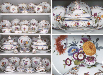 AN EXTENSIVE MEISSEN PORCELAIN