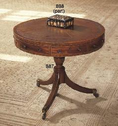 AN ENGLISH MAHOGANY DRUM TABLE