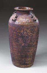 A Thai Martaban Pottery Storag