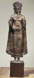 A Khmer Style Bronze Figure of