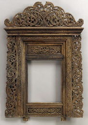 A Thai Wood Frame upon Stand