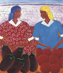 Two Women with Eggplant and Re