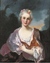 Portrait of a lady, seated, ha