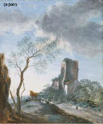A sleeping shepherd with a bul