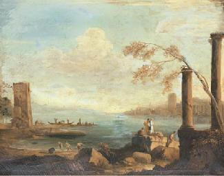 A Mediterranean coastal scene