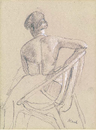 Study of a woman in a chair