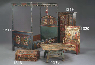 A TYROLEAN POLYCHROME-DECORATE