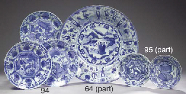 Eleven blue and white 'kraak p