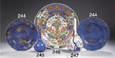 A pair of powder-blue plates